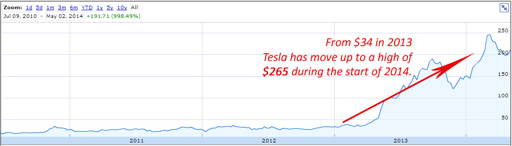 Tesla Multi Bagger Return