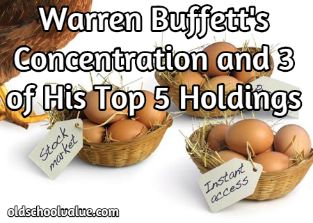 Warren Buffett's Concentration and 3 of His Top 5 holdings