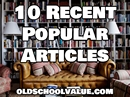 Did You Miss Any of These Recent Popular Articles?